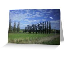 clouds gently waving at us north of Wellington, New Zealandd Greeting Card