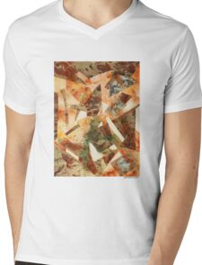 Rusty Pieces Mens V-Neck T-Shirt