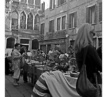 Sunday morning market, Venice Photographic Print
