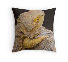 Lizard on the Rock Throw Pillow