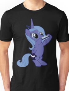 Luna with a Harmonica Unisex T-Shirt