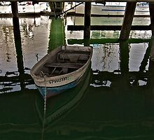 Moored Under Johnson's Pier   by Scott Johnson