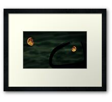 Red Moon Reflection Framed Print