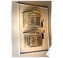 Antique Mailboxes Poster