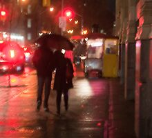 Couple In The Rain On John Street by Gary Chapple