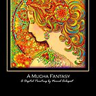 &#x27;A Mucha Fantasy&#x27;, Titled Greeting Card or Small Print by luvapples downunder/ Norval Arbogast