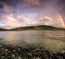 Rainbows Over Fiordland by Michael Treloar