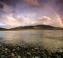 Rainbows Over Fiordland by Michael Treloar