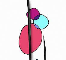 Simple Modern Abstract Shape Art by Blkstrawberry
