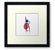 Simple Modern Abstract Shape Art Framed Print