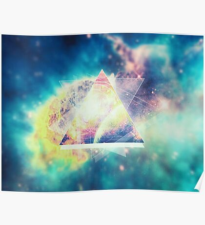 Awsome collosal deep space triangle art sign Poster