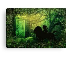 The Lion and the Wardrobe Canvas Print