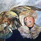 Eagle Hunter from the Mongolian Steppe by Gerard Mignot