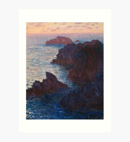 Rocks at Belle-lle, Port-Domois by Claude Monet Art Print