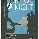 BLUE NIGHT (vintage illustration) by ART INSPIRED BY MUSIC