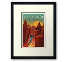 Mars Travel Poster Framed Print