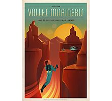 Mars Travel Poster Photographic Print