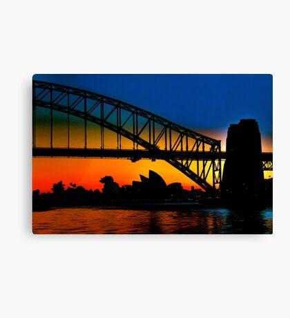 Sunrise, Sydney Harbour Bridge and Opera House Canvas Print