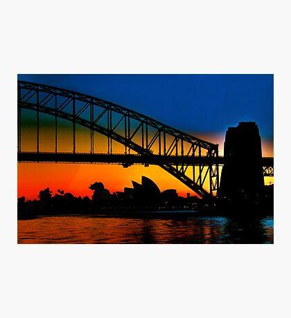 Sunrise, Sydney Harbour Bridge and Opera House Photographic Print