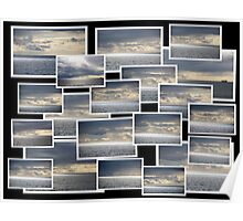 Collage of Ocean and Clouds Poster