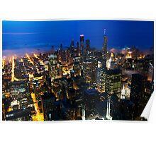 Chicago in Mist Poster