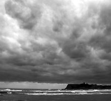 Gloomy Scarborough North Bay by a h