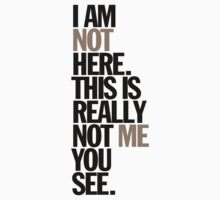 i am not here. this is really not me you see by titus toledo