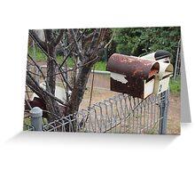 4 mail box Greeting Card