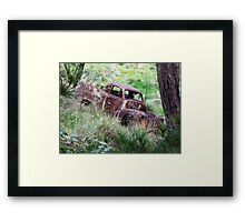 Rusty old ute, Captains Flat, NSW Framed Print