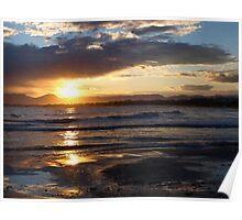 Salou Beach Sunset Poster