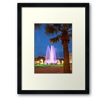 Colorful Fountain Framed Print