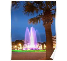 Colorful Fountain Poster