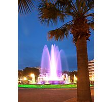 Colorful Fountain Photographic Print