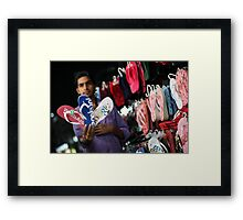 Social networking, my foot !! Framed Print