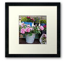 Germany Flower market  Framed Print