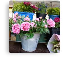 Germany Flower market  Canvas Print