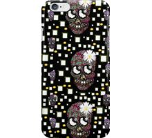 Sugar skull with florals iPhone Case/Skin