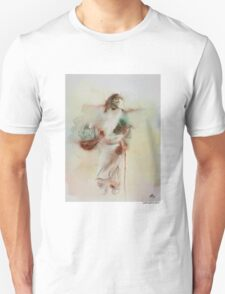Woman in The Road Unisex T-Shirt