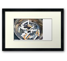 Ashtray Framed Print