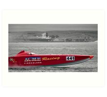 Speed Boat Racing Art Print