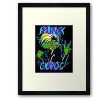 PUNK CROC Framed Print