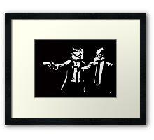 Pulp Fox-tion Framed Print