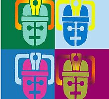 Warhol Pop Art Cybermen Graphic T-shirt by redcow