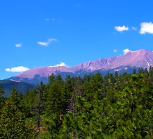Pikes Peak from Waldo Canyon Panorama by Brian Harig