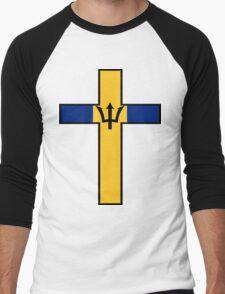 Olympic Countries - Barbados Men's Baseball ¾ T-Shirt