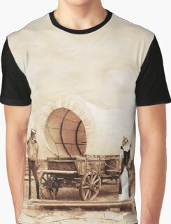 Old West Cowboy Cat and Saloon Kitty Graphic T-Shirt