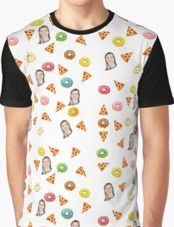 PIZZA & DONUTS Graphic T-Shirt