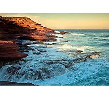 Stone Washed - Red Bluff Beach - Kalbarri Photographic Print