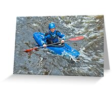 Riding The Rapids Greeting Card