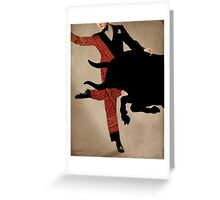 Dance Of Taurus Greeting Card